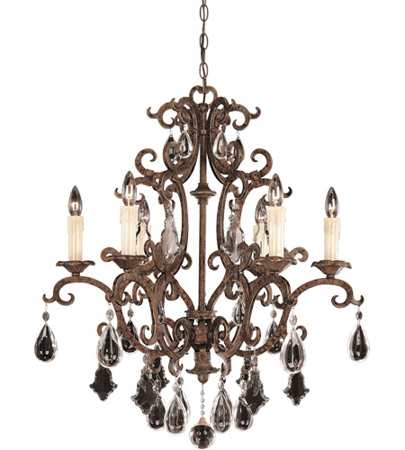 Savoy House Florence 6 Light Chandelier in New Tortoise Shell 1-1402-6-56 photo