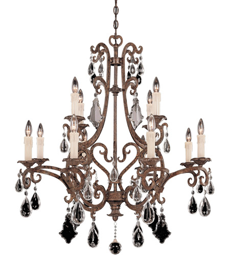 Savoy House Florence 12 Light Chandelier in New Tortoise Shell 1-1403-12-56