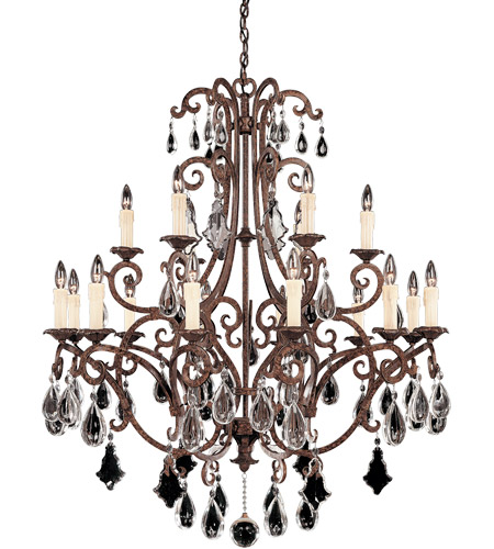 Savoy House Florence 18 Light Chandelier in New Tortoise Shell 1-1404-18-56