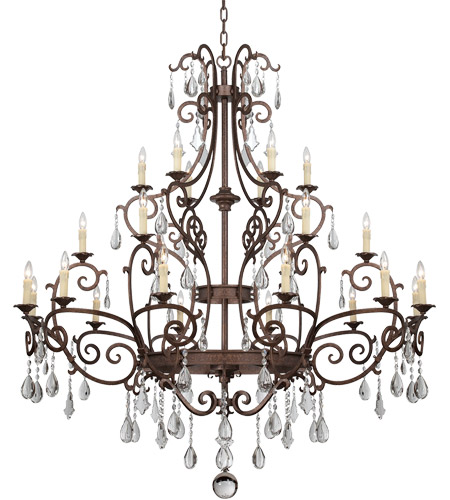 Savoy House 1-1407-24-56 Florence 24 Light 65 inch New Tortoise Shell Chandelier Ceiling Light photo