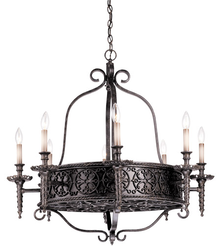 Savoy House Tuscan Iron 8 Light Chandelier In Rustic Bronze 1 1533