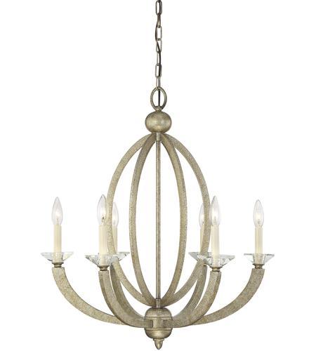 Savoy House Forum 6 Light Chandelier in Gold Dust 1-1551-6-122