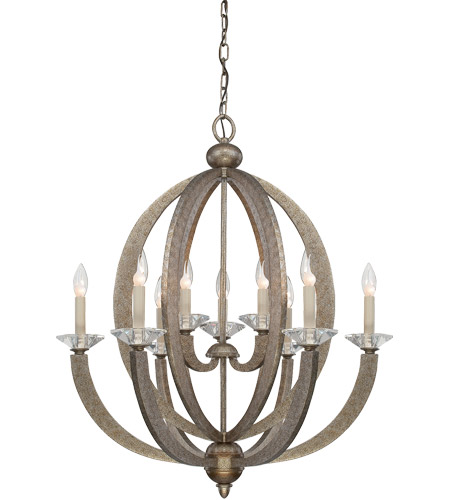 Savoy House 1-1555-9-122 Forum 9 Light 27 inch Gold Dust Chandelier Ceiling Light photo