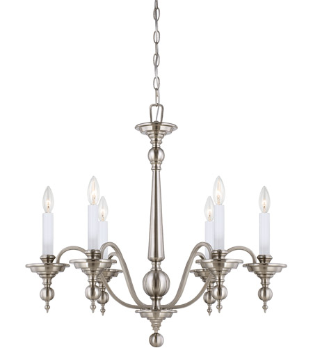 Savoy House Sutton Place 6 Light Chandelier in Satin Nickel 1-1726-6-SN