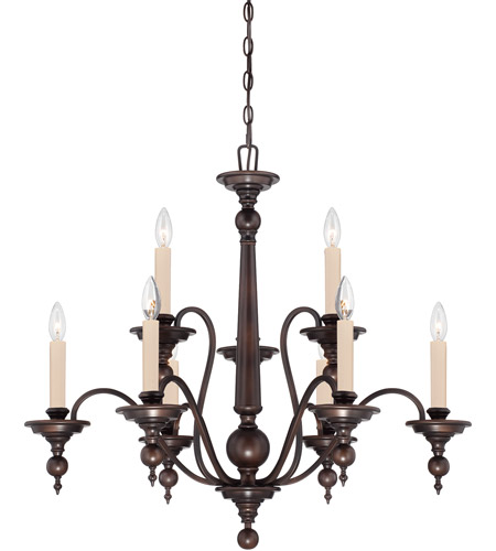 Savoy House Sutton Place 9 Light Chandelier in English Bronze 1-1727-9-13 photo