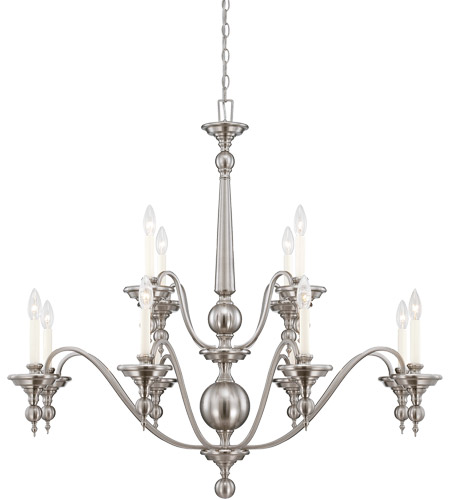 Savoy House 1-1728-12-SN Sutton Place 12 Light 42 inch Satin Nickel Chandelier Ceiling Light photo