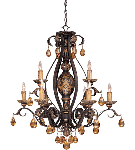 Savoy House Tracy Porter Tracy Porter Eldora 9 Light Chandelier in Como Black w/ Gold 1-1813-9-62 photo