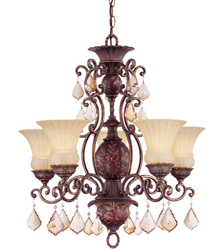 Savoy House Tracy Porter Sangria 5 Light Chandelier In