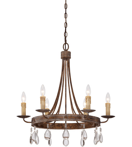 Savoy House Carlisle 6 Light Chandelier in Bronze Patina 1-200-6-15 photo