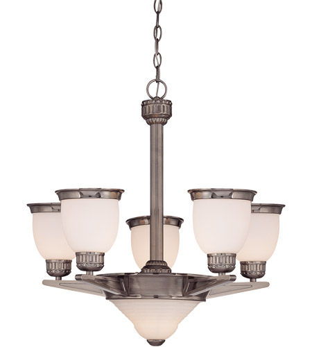 Savoy House Muscle Collection Thunder 5 Light Chandelier in Brushed Pewter 1-20038-5-187 photo