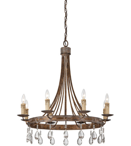 Savoy House Carlisle 8 Light Chandelier in Bronze Patina 1-201-8-15