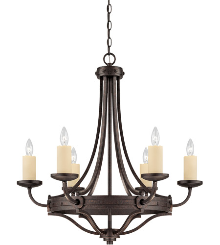 Savoy House Elba 6 Light Chandelier in Oiled Copper 1-2010-6-05 photo