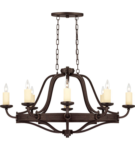 Savoy House 1-2011-8-05 Elba 8 Light 28 inch Oiled Copper Chandelier Ceiling Light, Oval photo