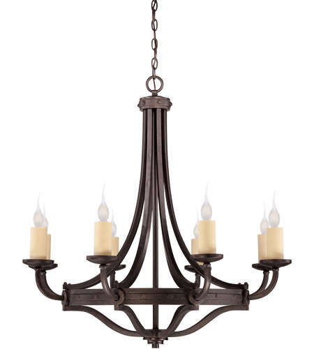 Savoy House 1-2012-8-05 Elba 8 Light 36 inch Oiled Copper Chandelier Ceiling Light photo