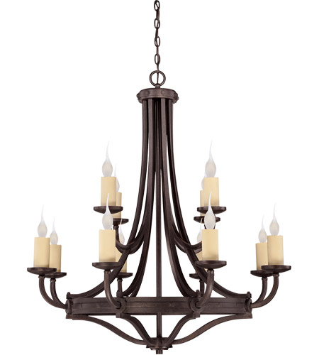 Savoy House 1-2013-12-05 Elba 12 Light 38 inch Oiled Copper Chandelier Ceiling Light photo