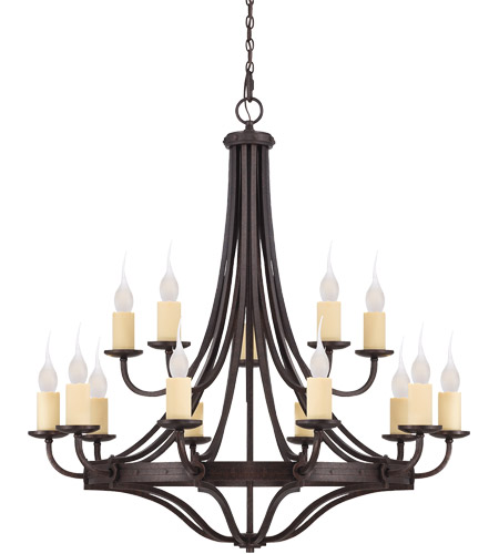 Savoy House 1-2014-15-05 Elba 15 Light 49 inch Oiled Copper Chandelier Ceiling Light photo