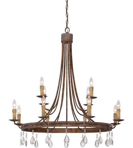 Savoy House 1-202-12-15 Carlisle 12 Light 39 inch Bronze Patina Chandelier Ceiling Light photo
