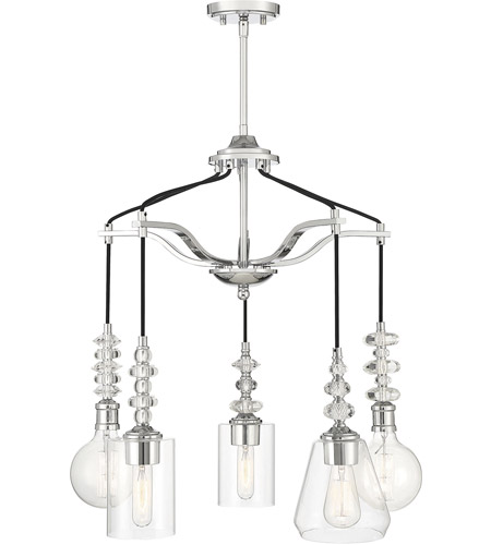 Savoy House 1-2159-5-11 Apollo 5 Light 25 inch Polished Chrome Pendant Ceiling Light photo