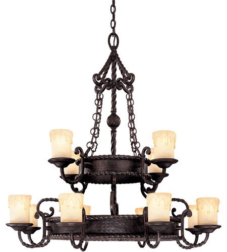 Savoy House San Gallo 12 Light Chandelier in Slate 1-2232-12-25
