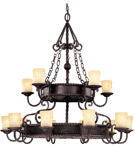 Savoy House 1-2233-15-25 San Gallo 15 Light 45 inch Slate Chandelier Ceiling Light photo