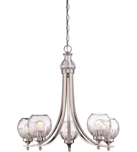 Savoy House Camden 5 Light Chandelier in Polished Nickel 1-240-5-109 photo