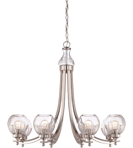 Savoy House Camden 8 Light Chandelier in Polished Nickel 1-241-8-109