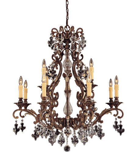savoy house larte du luminaire modern baroque 12 light chandelier in new tortoise shell w. Black Bedroom Furniture Sets. Home Design Ideas