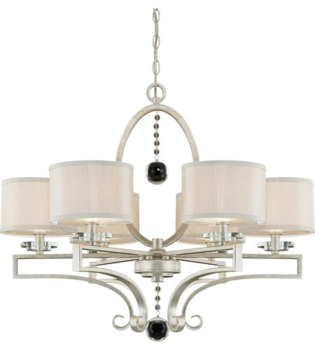 Savoy House 1-250-6-307 Rosendal 6 Light 30 inch Silver Sparkle Chandelier Ceiling Light photo
