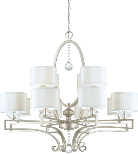 Savoy House Rosendal 12 Light Chandelier in Silver Sparkle 1-251-12-307
