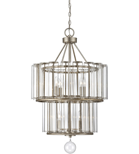 Savoy House 1-260-7-29 Belmont 7 Light 23 inch Distressed Silver Leaf Chandelier Ceiling Light photo