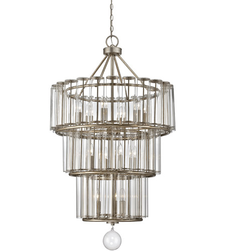 Savoy House 1-261-13-29 Belmont 13 Light 29 inch Distressed Silver Leaf Chandelier Ceiling Light photo