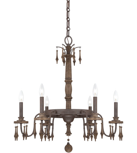 Savoy House 1-280-6-21 Sherwood 6 Light 27 inch Barn Wood Chandelier Ceiling Light photo