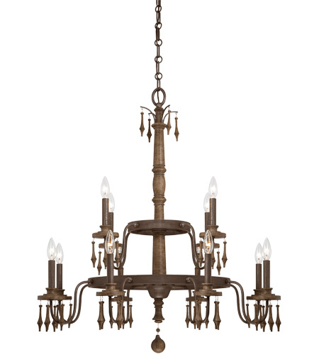 Savoy House Sherwood 12 Light Chandelier in Barn Wood 1-282-12-21 photo