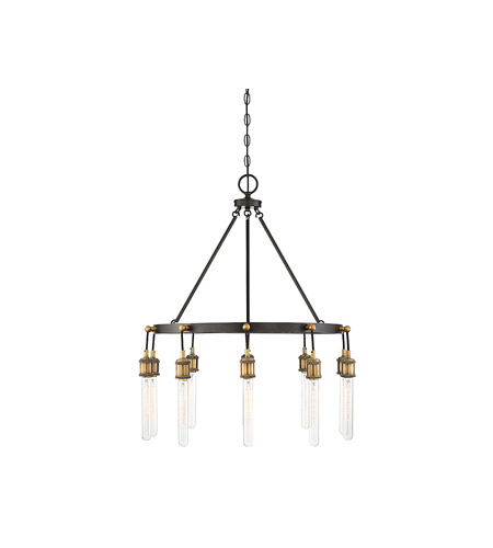 Savoy House 1-2904-10-51 Campbell 10 Light 28 inch Vintage Black with Warm Brass Chandelier Ceiling Light photo thumbnail