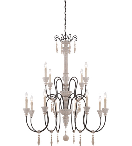 Savoy House 1-292-12-23 Ashland 12 Light 38 inch White Washed Driftwood Chandelier Ceiling Light photo