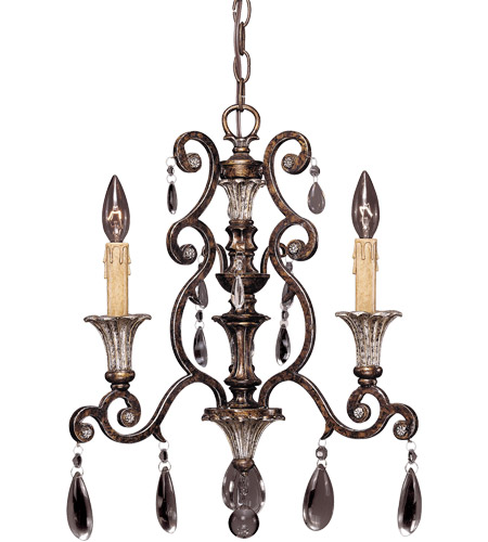 Savoy House St. Laurence 3 Light Chandelier in New Tortoise Shell w/ Silver 1-3000-3-8