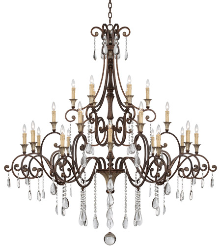 Savoy House 1-3004-24-8 St. Laurence 24 Light 66 inch New Tortoise Shell/Silver Chandelier Ceiling Light photo