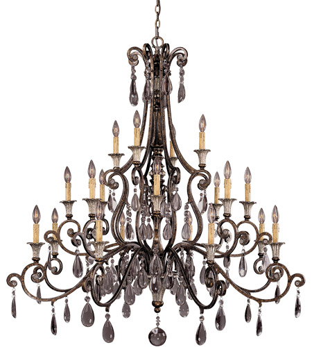 Savoy House St. Laurence 20 Light Chandelier in New Tortoise Shell w/ Silver 1-3005-20-8