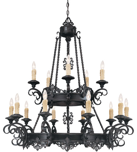 Savoy House Barista 15 Light Chandelier in Slate 1-3023-15-25 photo