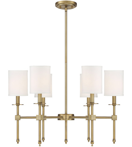 Savoy House 1-305-6-322 Chatham 6 Light 28 inch Warm Brass Chandelier Ceiling Light photo