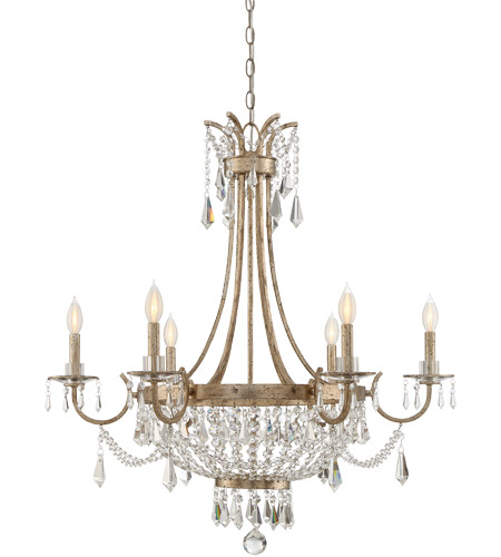 Savoy House 1-3060-6-60 Claiborne 6 Light 33 inch Avalite Chandelier Ceiling Light photo