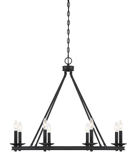 Savoy House 1-308-8-89 Middleton 8 Light 33 inch Matte Black Chandelier Ceiling Light photo
