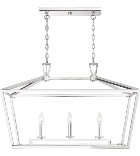 Savoy House 1-323-3-109 Townsend 3 Light 32 inch Polished Nickel Trestle Ceiling Light photo