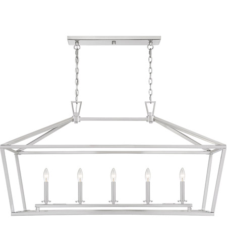 Savoy House 1-324-5-SN Townsend 5 Light 44 inch Satin Nickel Linear Chandelier Ceiling Light photo