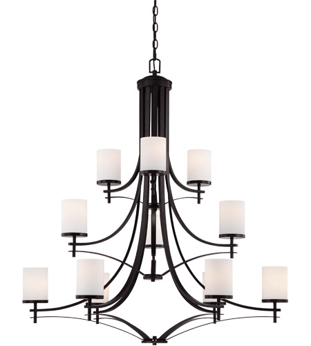 Savoy House Colton 12 Light Chandelier in English Bronze 1-332-12-13 photo