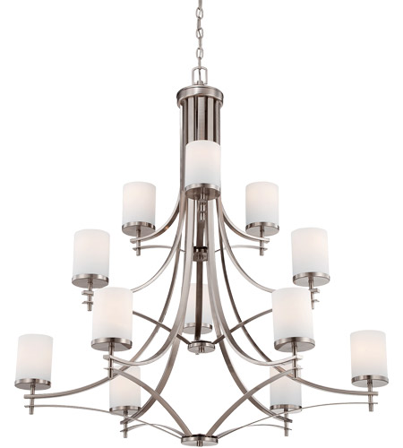 Savoy House Colton 12 Light Chandelier in Satin Nickel 1-332-12-SN