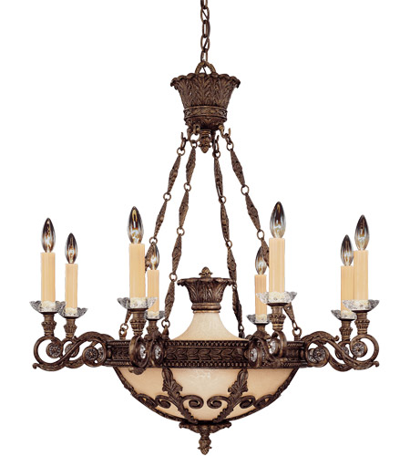 Savoy House Corsica 8 Light Chandelier in New Tortoise Shell 1-3411-8-56 photo
