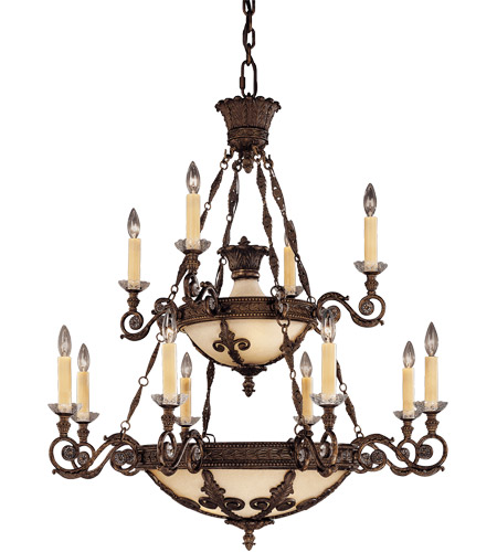 Savoy House Corsica 12 Light Chandelier in New Tortoise Shell 1-3412-12-56