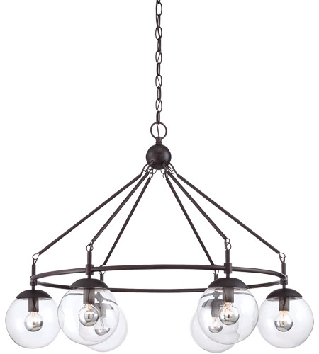 Savoy House 1-351-6-13 Argo 6 Light 32 inch English Bronze Chandelier Ceiling Light photo