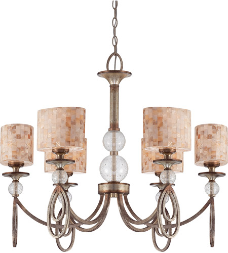 Savoy House Acacia 6 Light Chandelier in Oxidized Silver 1-3531-6-128 photo